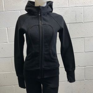 lululemon athletica Jackets & Coats - Lululemon black scuba hoodie, sz 4, 60641